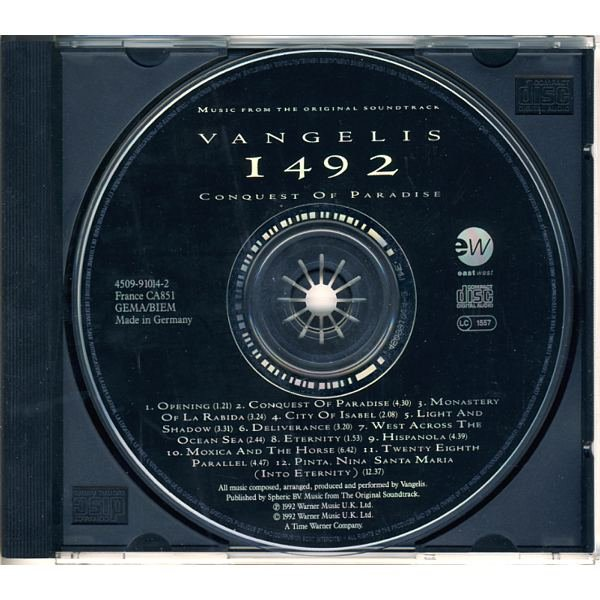 РИНГТОН CONQUEST OF PARADISE VANGELIS МУЗЫКА В MP3 СКАЧАТЬ БЕСПЛАТНО